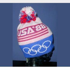 VTG EUC 80s USA Olympics Hip Hop Streetwear Beanie
